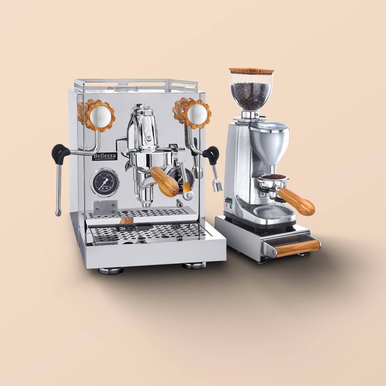 Bellezza-Espressomaschine-und-Mühle