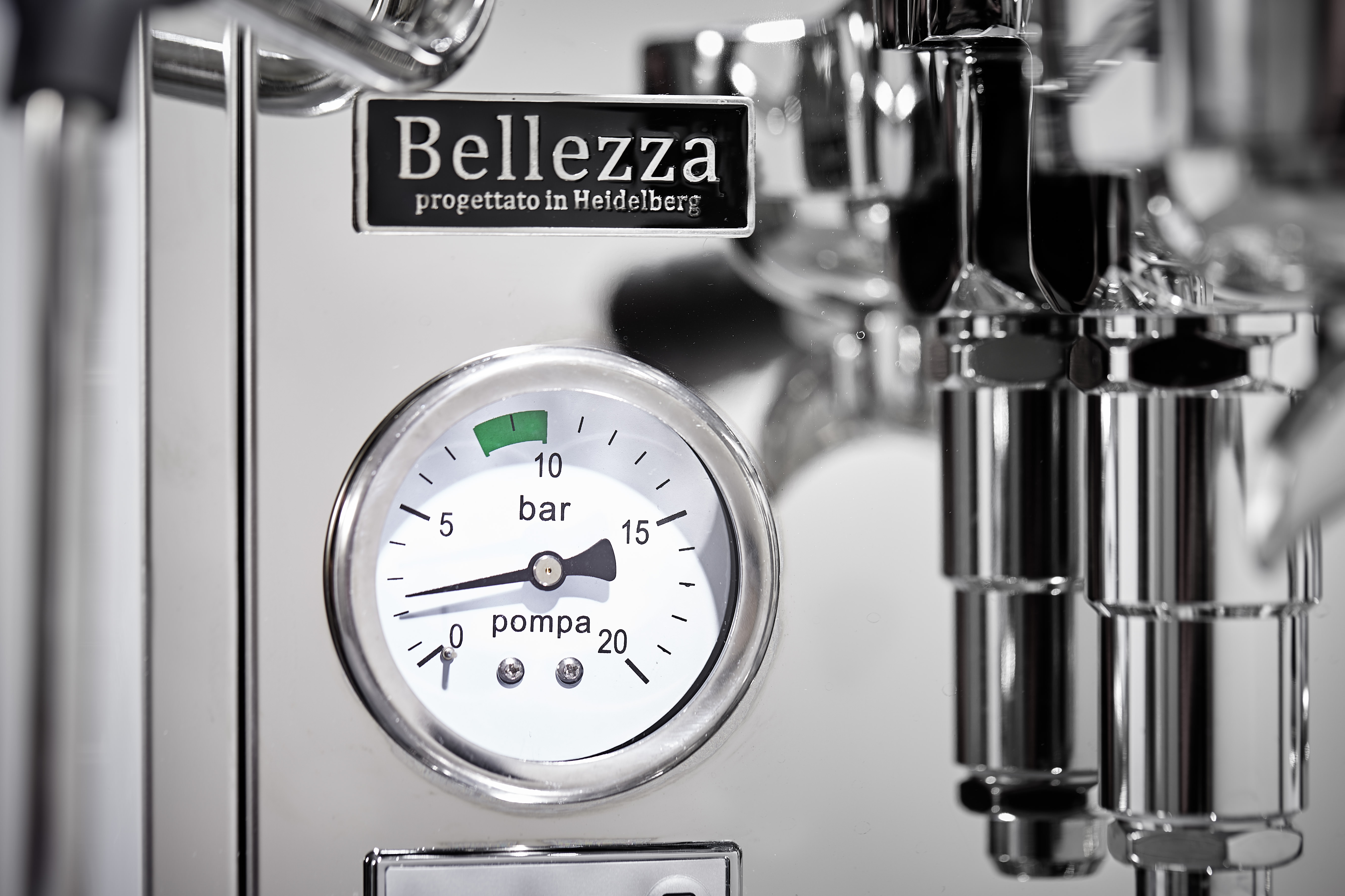 Bellezza-Espressomaschine-Detail